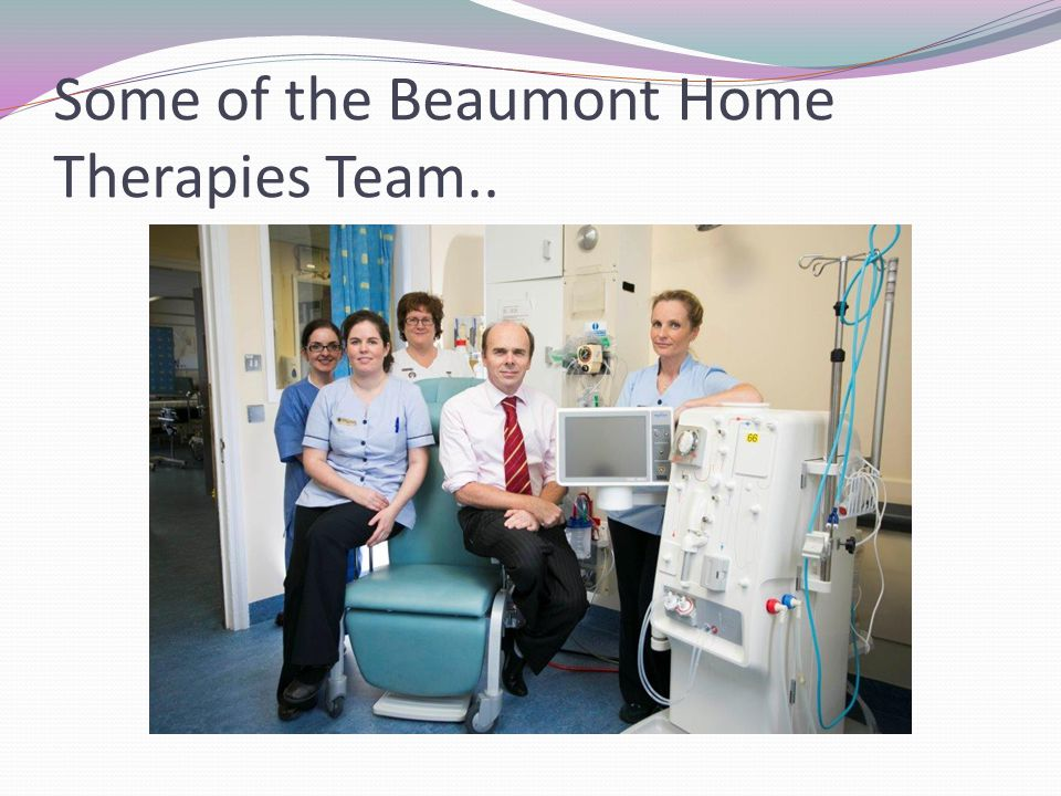 Some of the Beaumont Home Therapies Team..