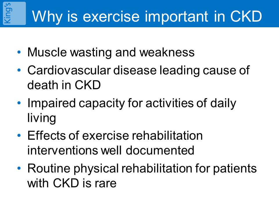 Exercise training for patients with CKD