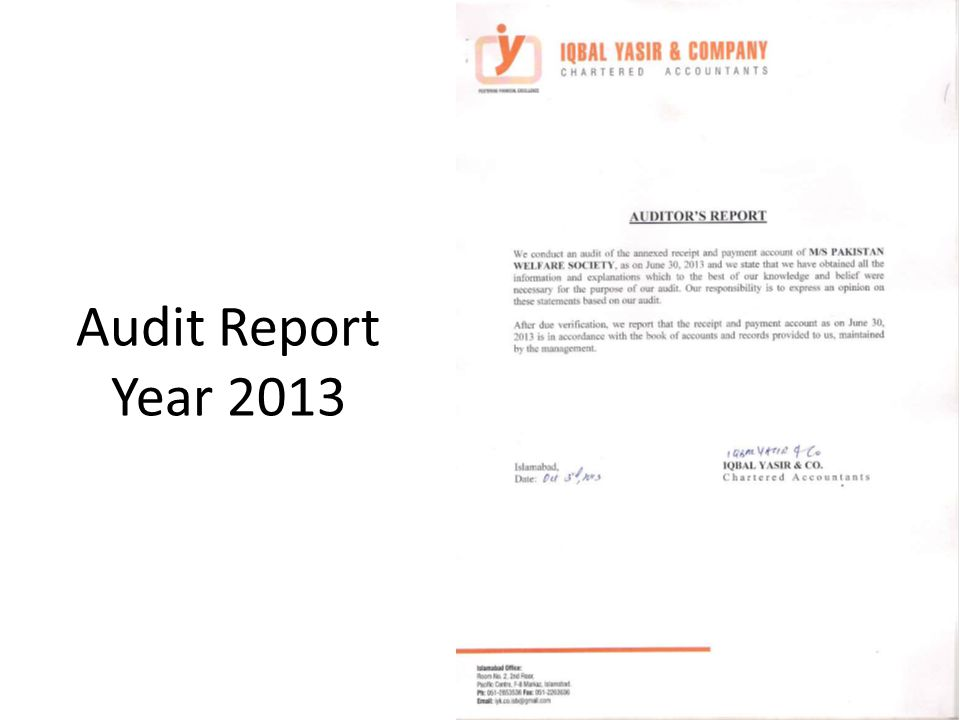 Audit Report Year 2013