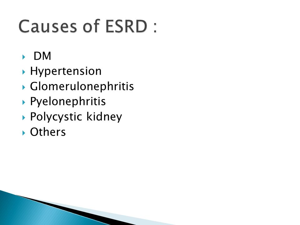  Patients with ESRD with expected 5 yr survival