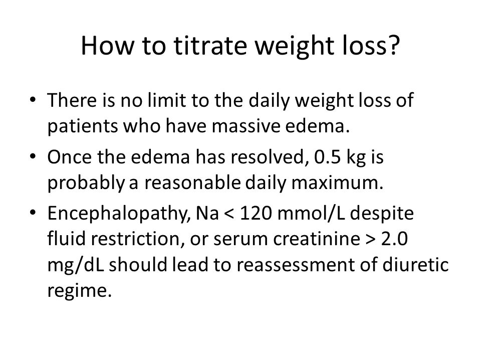 How to titrate weight loss.
