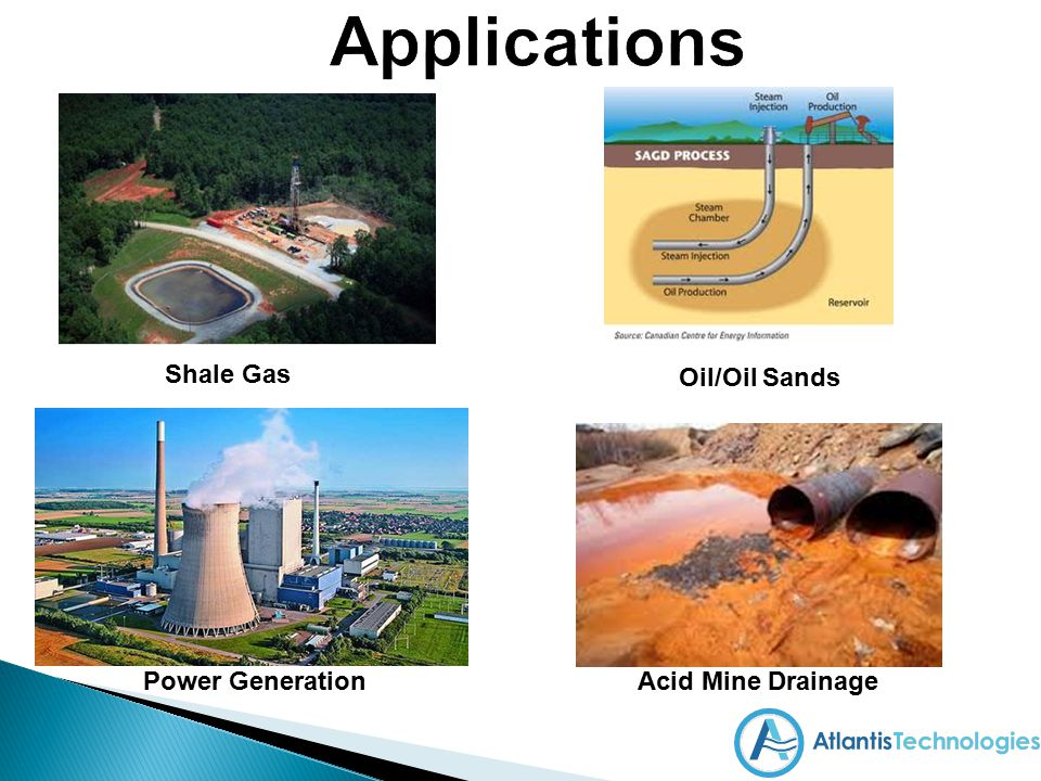 Applications Power GenerationAcid Mine Drainage Shale Gas Oil/Oil Sands