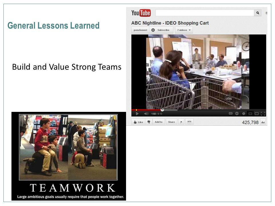 General Lessons Learned Build and Value Strong Teams