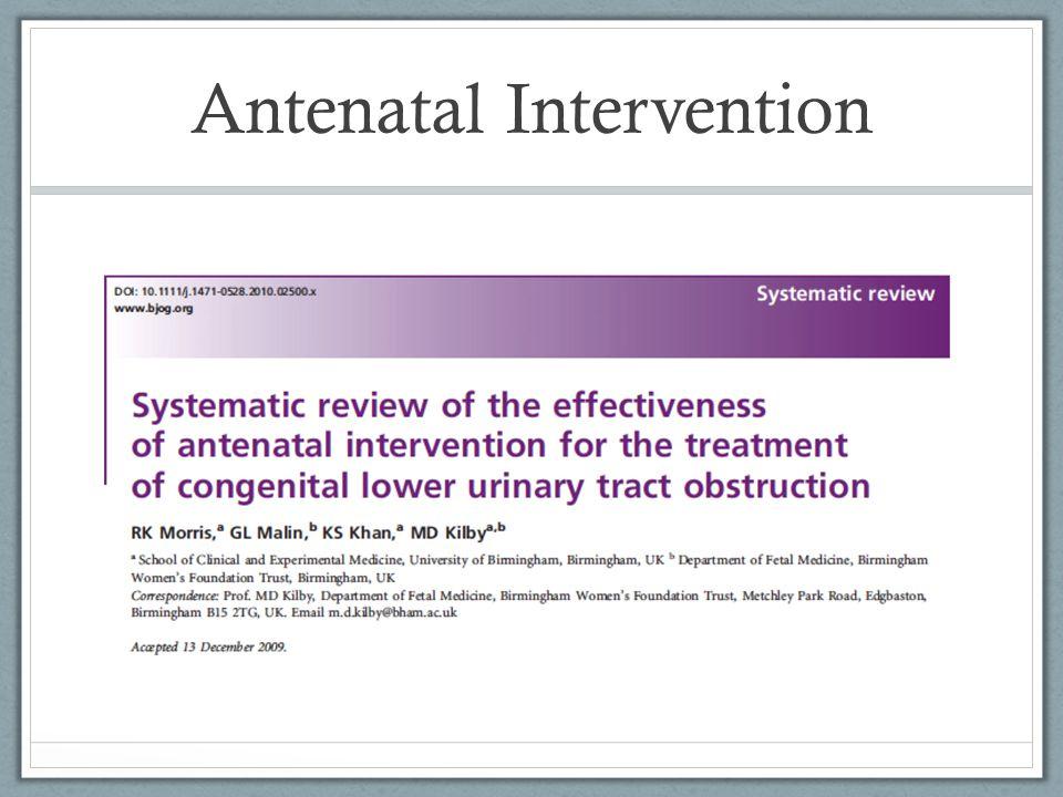 Antenatal Intervention