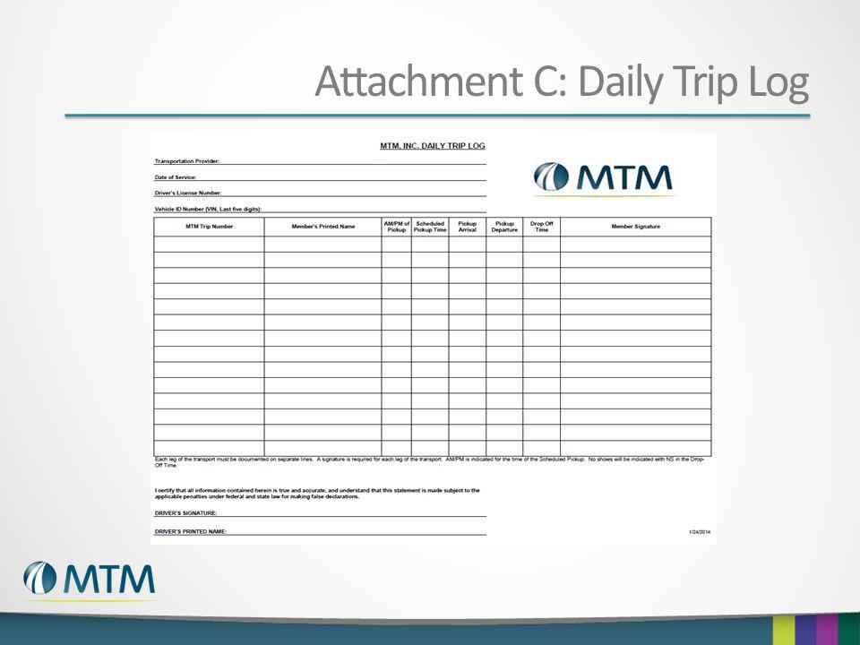 Attachment C: Daily Trip Log