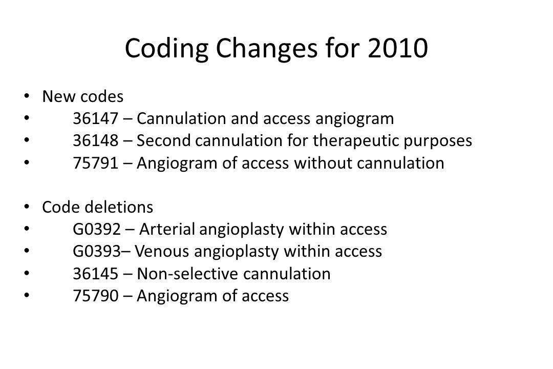 Coding Access Angioplasty