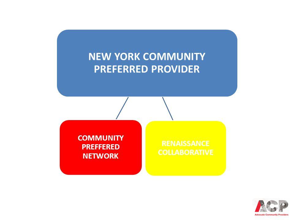 NEW YORK COMMUNITY PREFERRED PROVIDER COMMUNITY PREFFERED NETWORK RENAISSANCE COLLABORATIVE