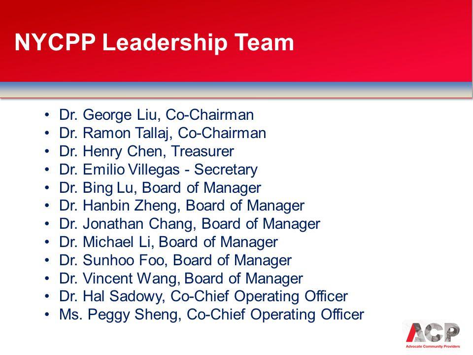 Dr.George Liu, Co-Chairman Dr. Ramon Tallaj, Co-Chairman Dr.