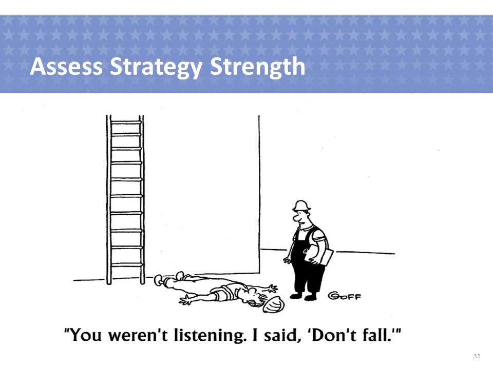 Assess Strategy Strength 32