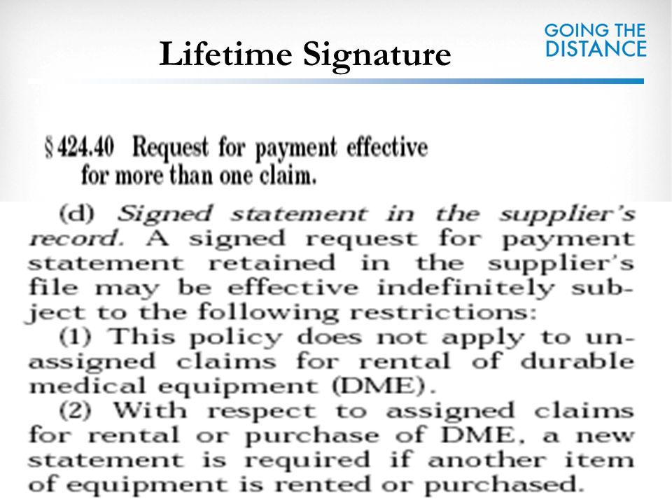 Lifetime Signature