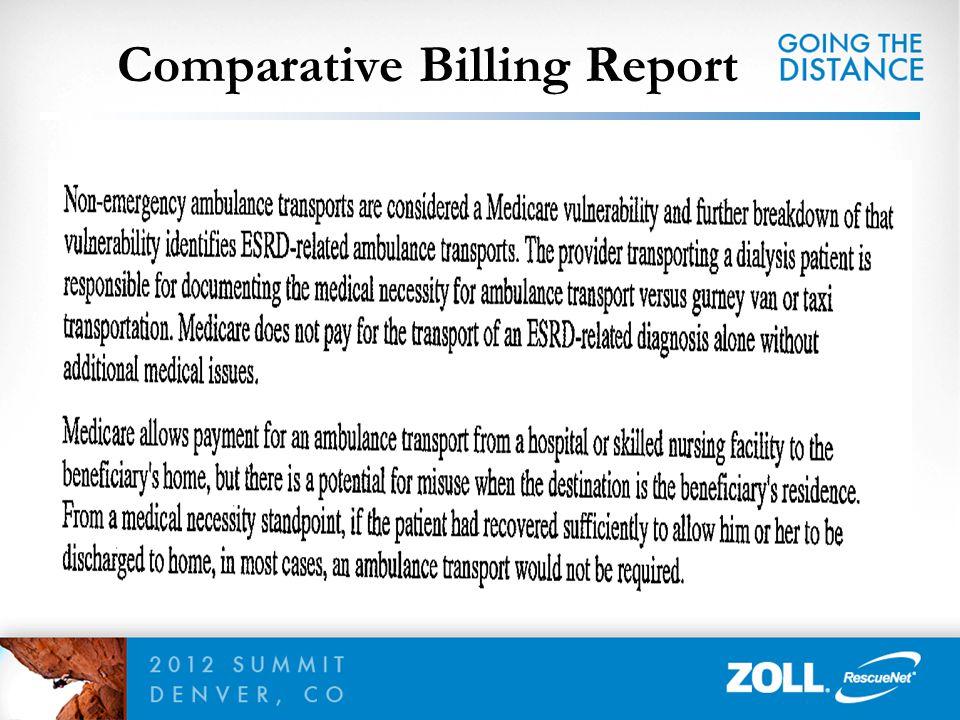 Comparative Billing Report