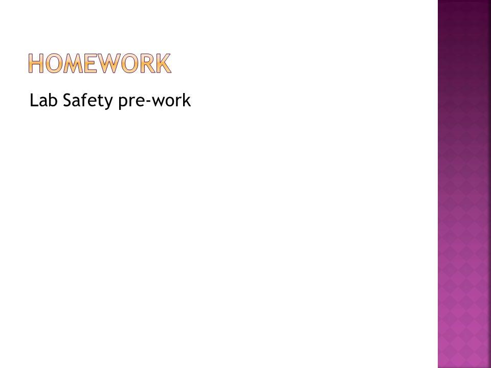 Lab Safety pre-work