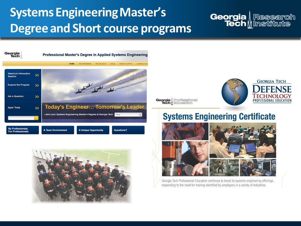 Systems Engineering Master's Degree and Short course programs