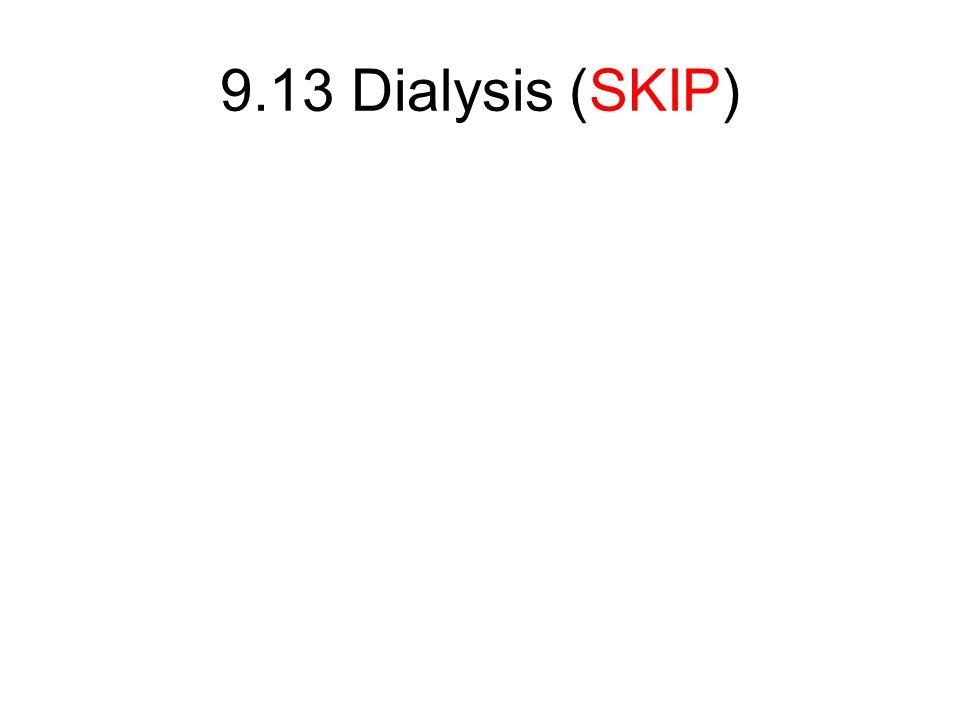 9.13 Dialysis (SKIP)