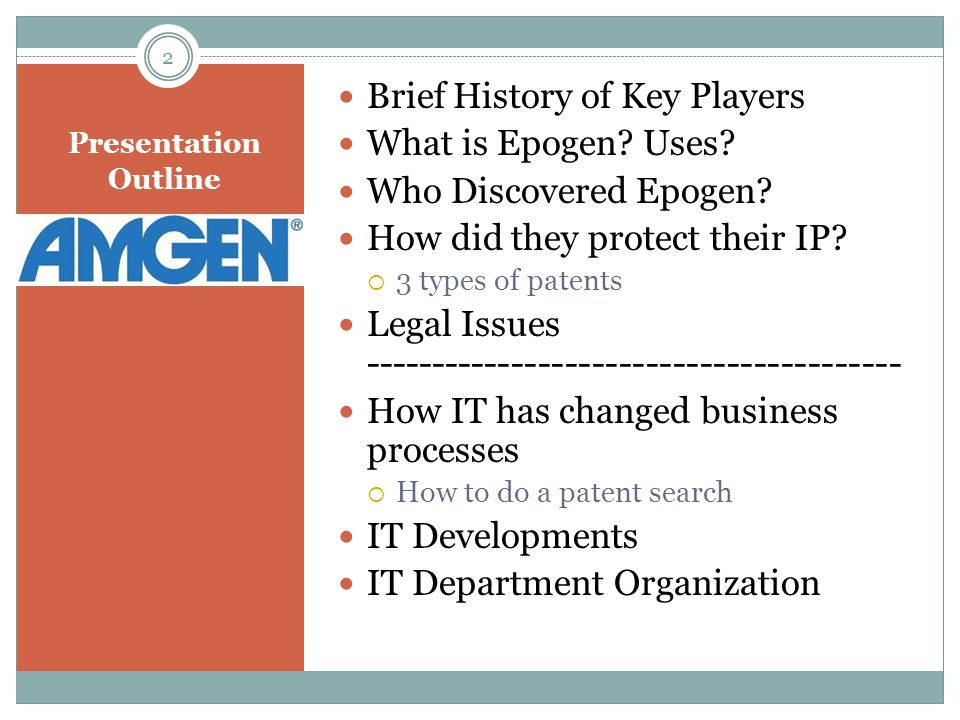 EPO – Key Players Franklin Pitch Johnson  BS in Mechanical Engineering from Stanford  MBA from Harvard  Stanford Graduate School of Business Teacher (12+ yrs.)  Independent Venture Capitalist since the early 1960's  One of Amgen's original founders 3