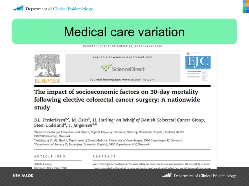 Medical care variation