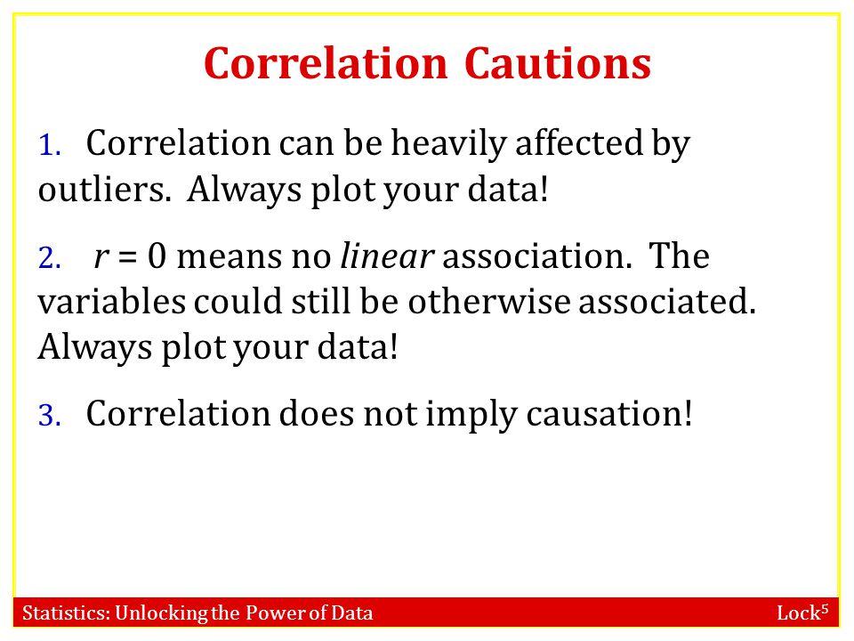 Statistics: Unlocking the Power of Data Lock 5 Correlation Cautions 1.