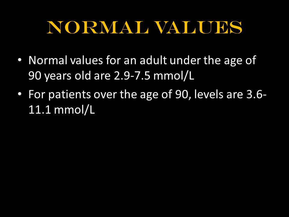 abnormal result Degree of impairment: – Borderline: 62.5-80 mL/min/m – Slight: 52-62.5 mL/min/m – Mild: 42-52 mL/min/m – Moderate: 28-42 mL/min/m – Marked: Less than 28 mL/min/m 2