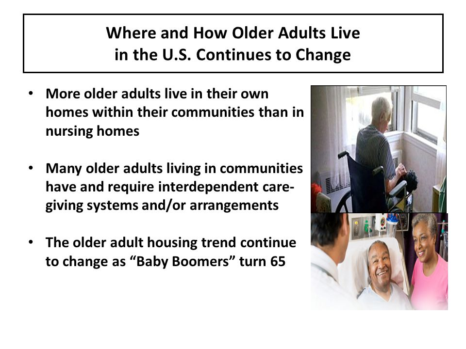Where and How Older Adults Live in the U.S.