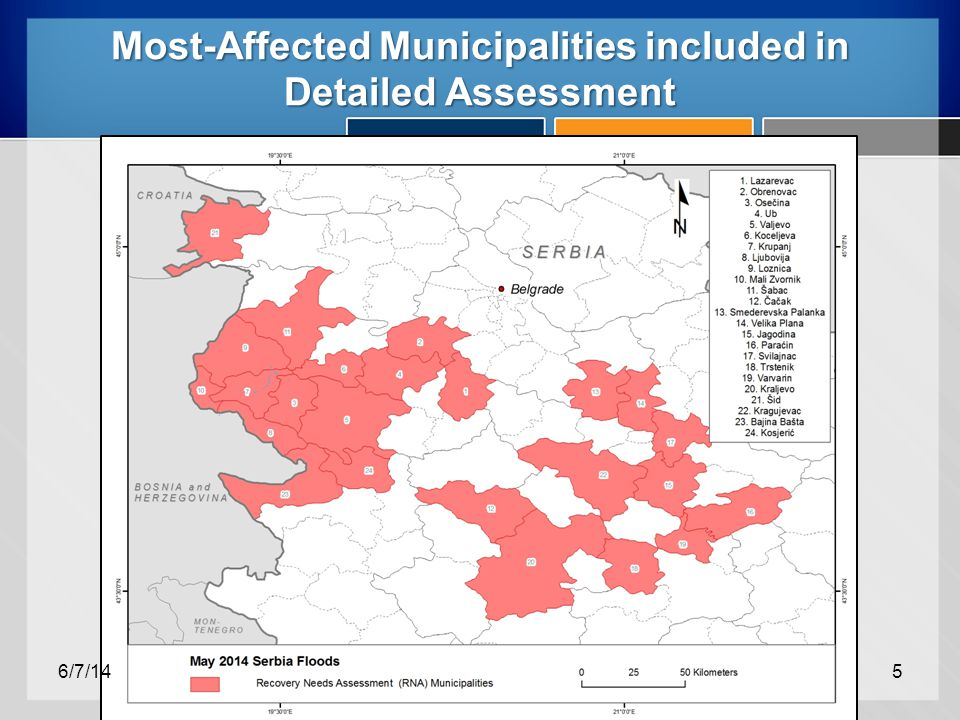 Most-Affected Municipalities included in Detailed Assessment 6/7/145