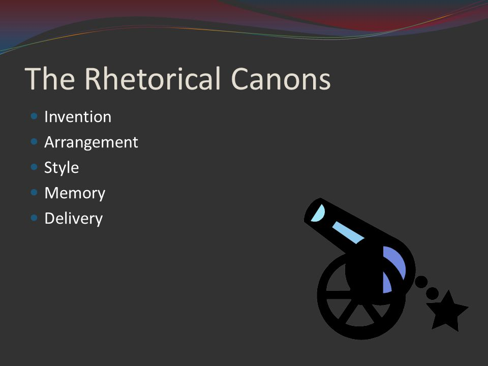 The Rhetorical Canons Invention Arrangement Style Memory Delivery