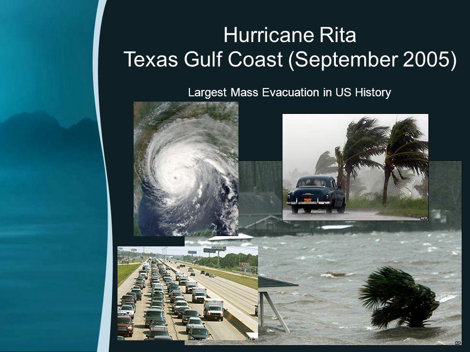 Hurricane Rita Texas Gulf Coast (September 2005) Largest Mass Evacuation in US History 27