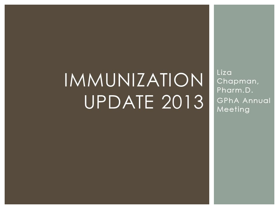 INFLUENZA VACCINE AND EGG ALLERGIES APhA IMZ CTP, 04.2013