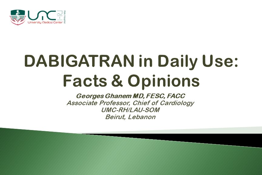  Dabigatran is the first new oral anticoagulant to become available for clinical use in >50 years.