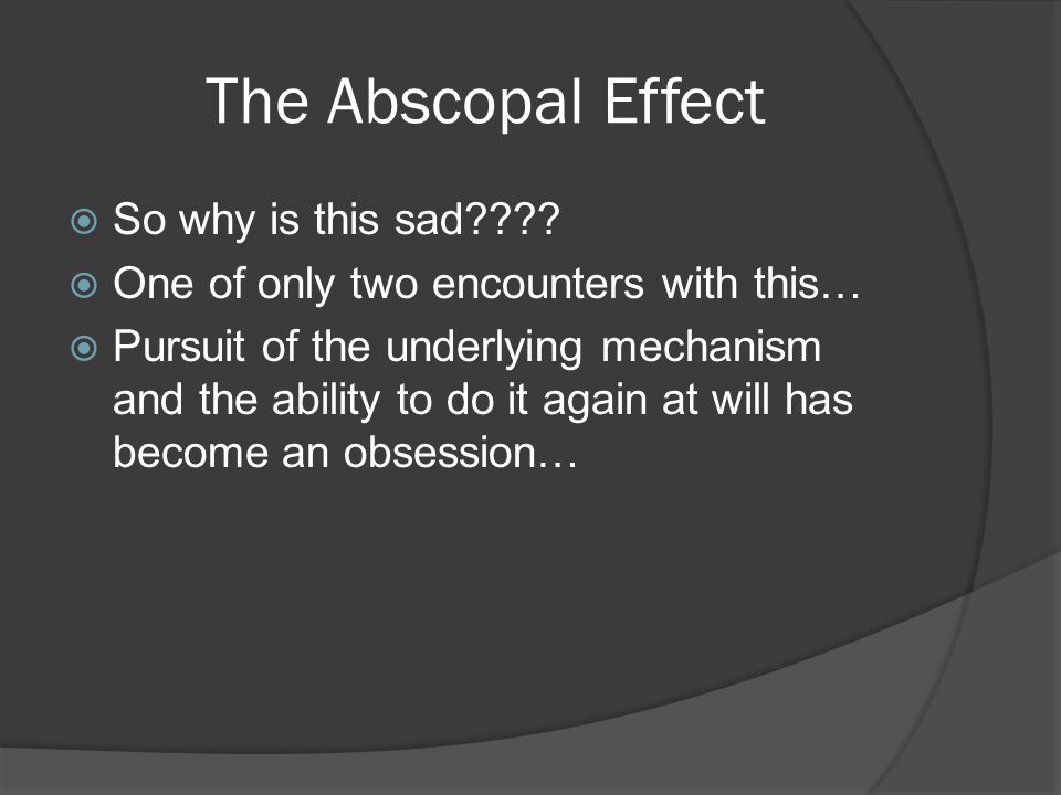 The Abscopal Effect  So why is this sad .