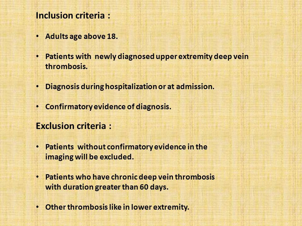 Inclusion criteria : Adults age above 18.