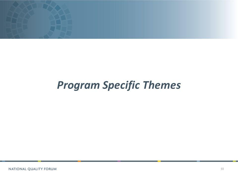 68 Program Specific Themes