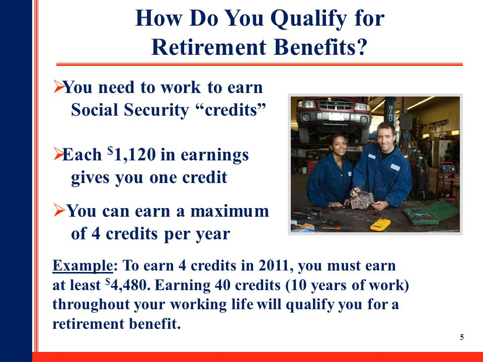 6 Your Age At The Time You Elect Retirement Benefits Affects the Amount  Age 6275% of benefit  Age 66100% of benefit  Age 70132% of benefit For example, if you were born from 1943 through 1954: