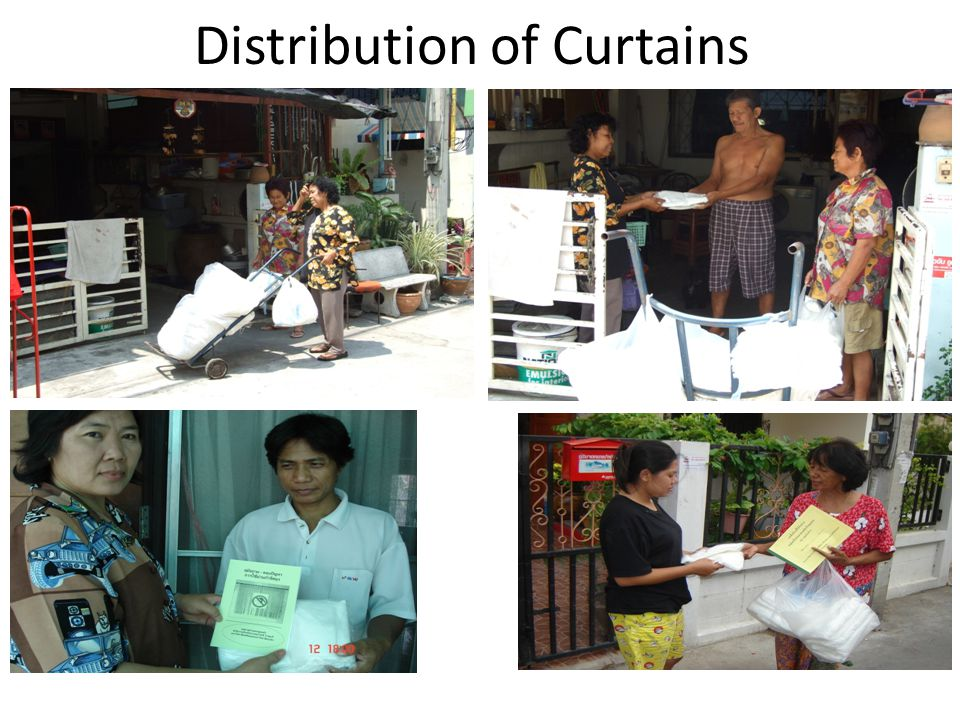 Distribution of Curtains
