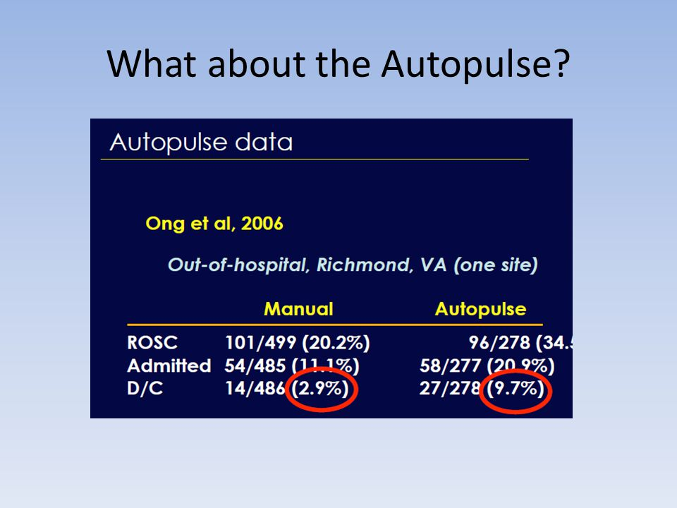 What about the Autopulse?