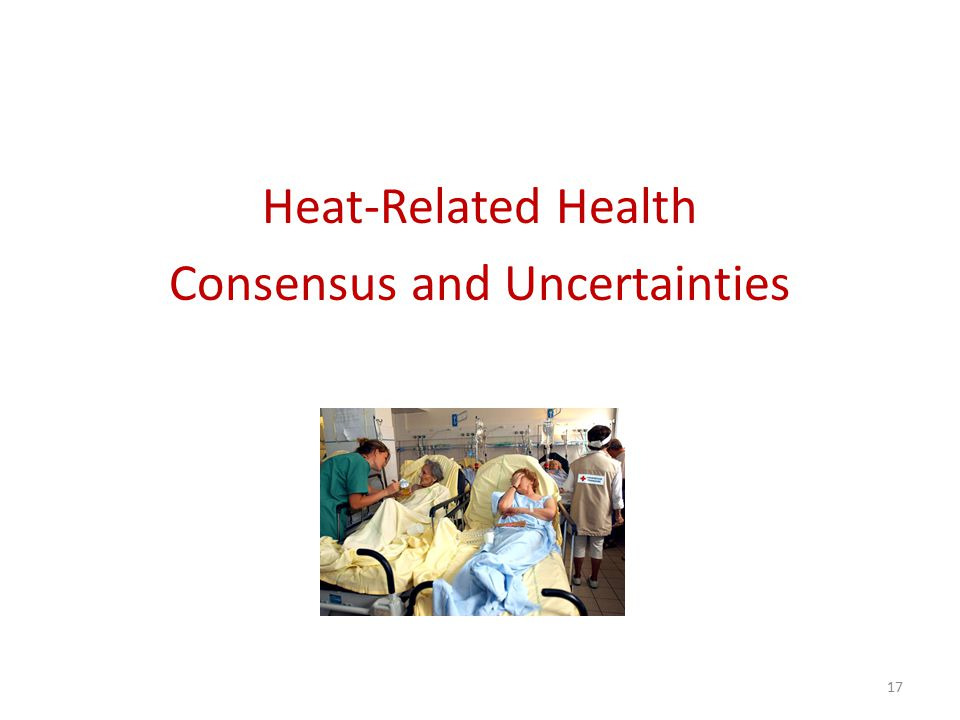 Heat-Related Health Consensus and Uncertainties 17