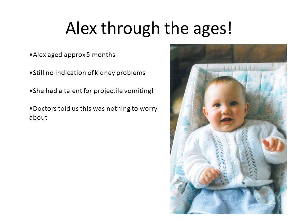 Alex through the ages.
