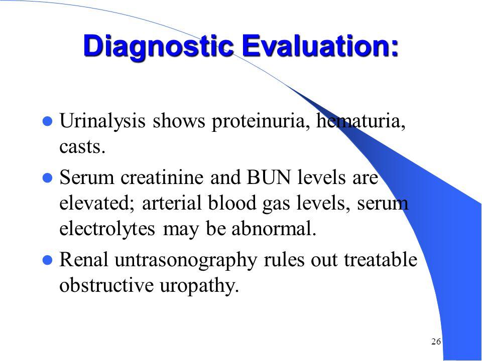 Symptoms of ARF Decrease urine output (70%) Edema, esp. lower extremity Mental changes Heart failure Nausea, vomiting Pruritus Anemia Tachypenic Cool,