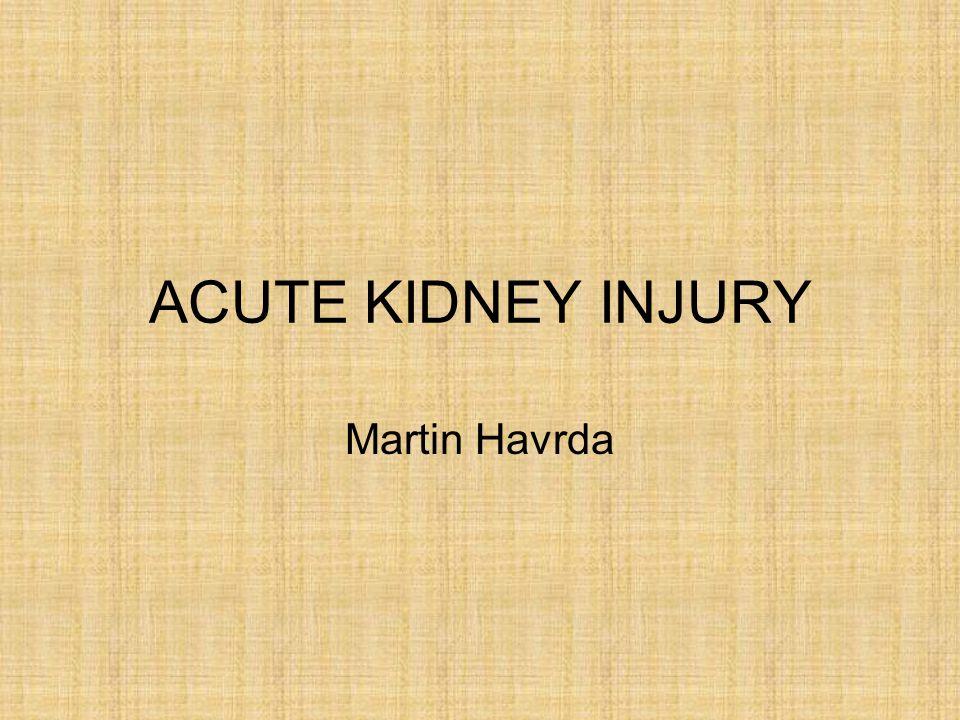 ACUTE KIDNEY INJURY Martin Havrda
