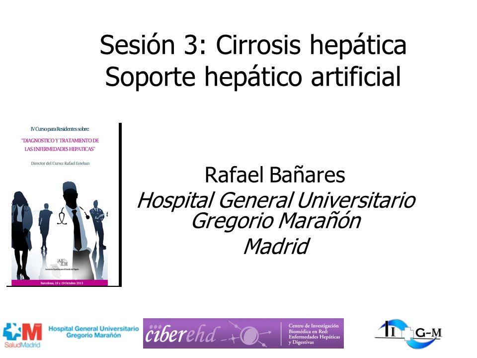 Sesión 3: Cirrosis hepática Soporte hepático artificial Rafael Bañares Hospital General Universitario Gregorio Marañón Madrid