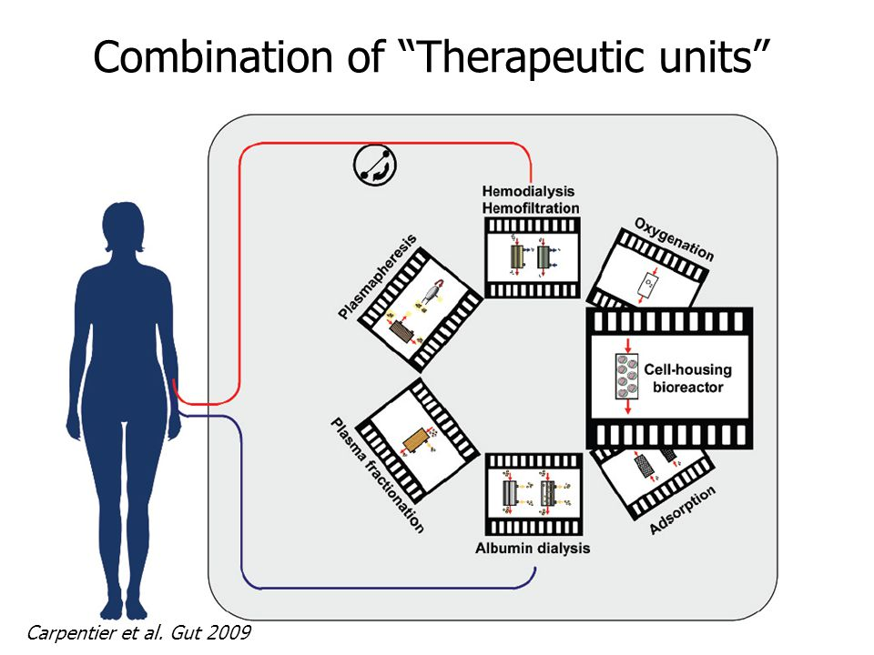 Combination of Therapeutic units Carpentier et al. Gut 2009
