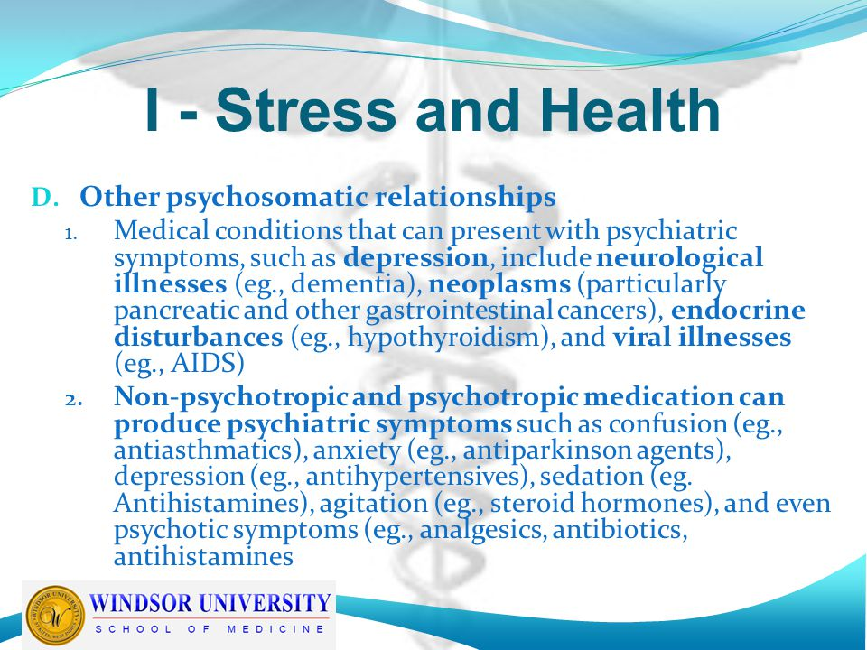 II – Psychological Stress in Hospitalized Patients A.
