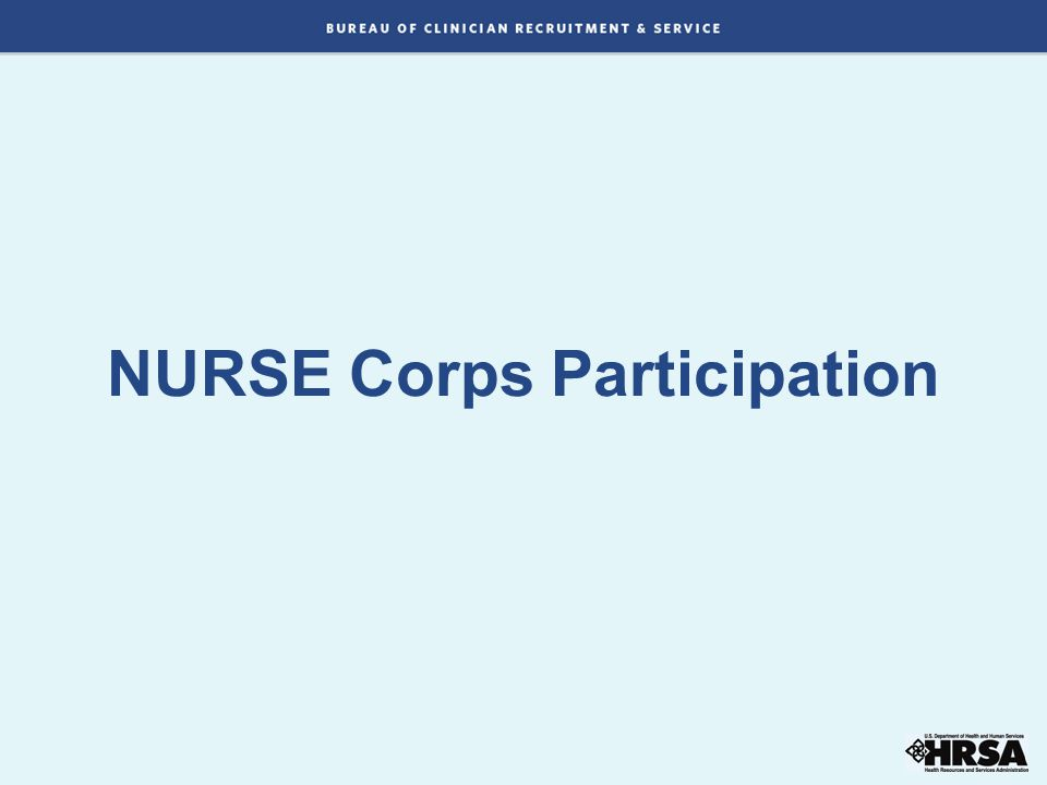 NURSE Corps Participation