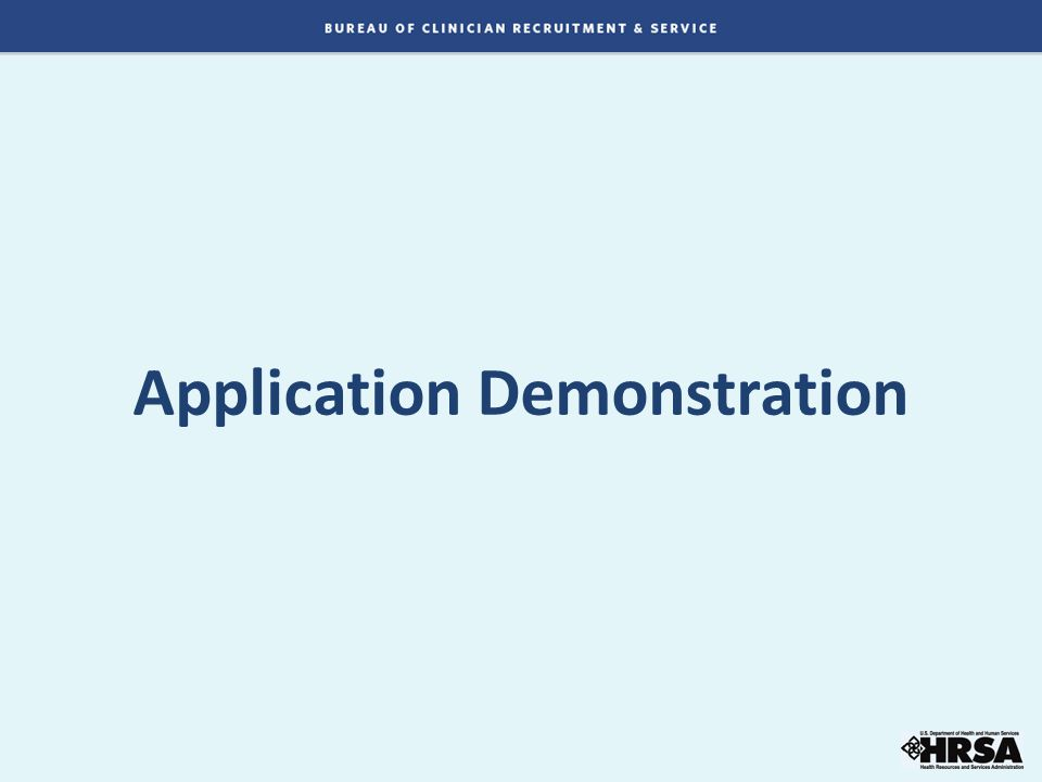 Application Demonstration