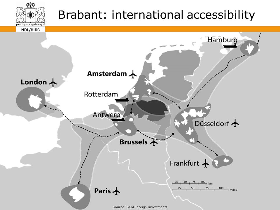 35 Brabant: international accessibility Source: BOM Foreign Investments
