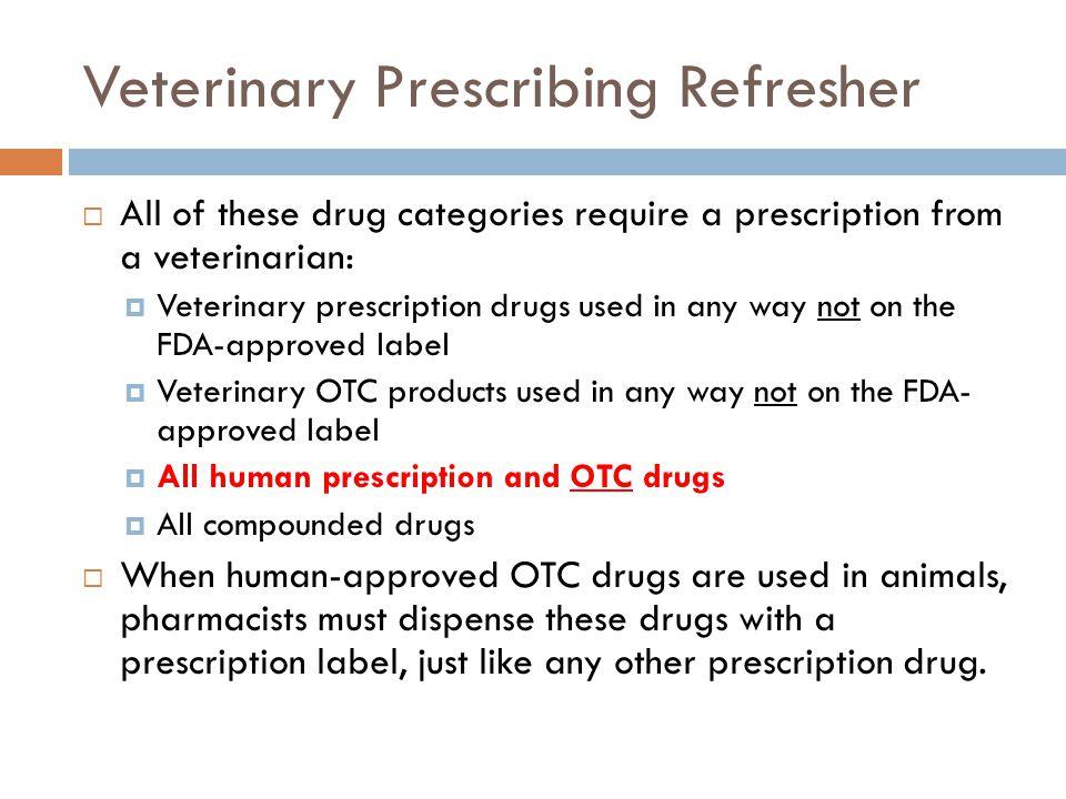 Animal Label Non-steroidal anti- inflammatory drugs (NSAIDs)