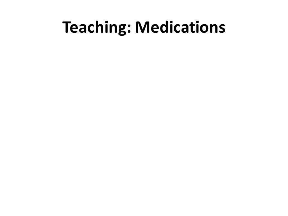 Teaching: Medications