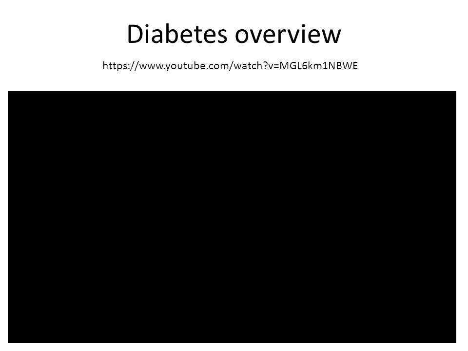 Diabetes overview https://www.youtube.com/watch?v=MGL6km1NBWE