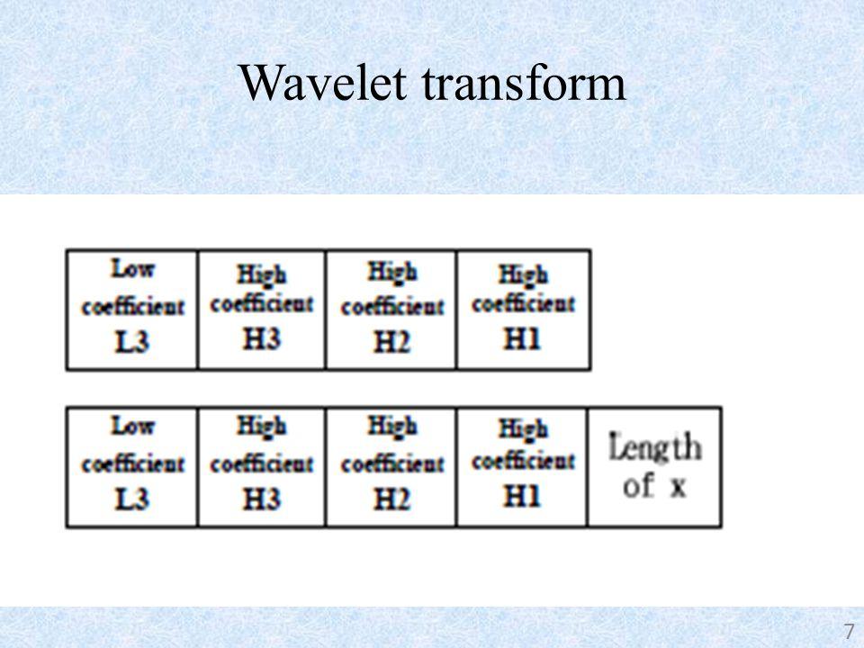 Wavelet transform 7