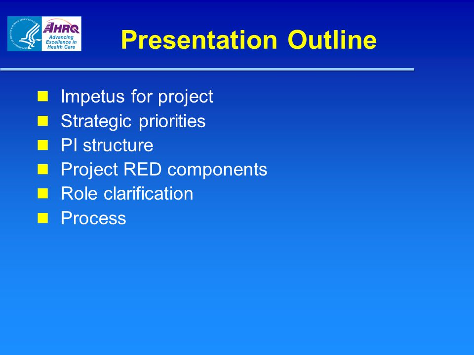 Targeted Patient Population To pilot Project RED, we have identified the following target patient population: – Provide diagnosis, unit, etc.