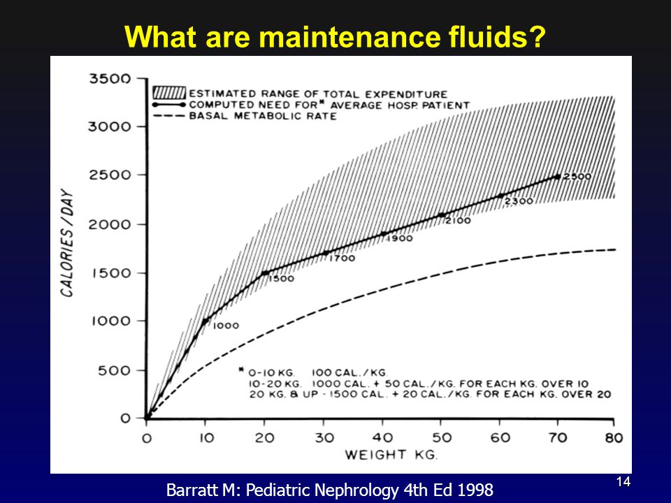 What are maintenance fluids? Barratt M: Pediatric Nephrology 4th Ed 1998 14
